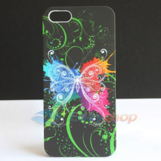 Husa butterfly silicon iphone 5 + folie display