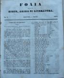 Foaia pentru minte , inima si literatura , nr. 1 , 1853 , Brasov , Muresanu