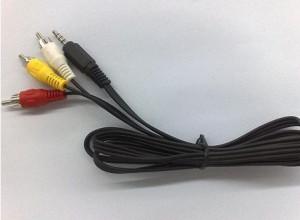 Cablu audio video AV / Jack de 3,5 mm la 3 RCA