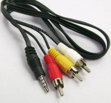 Cablu audio video AV / Jack de 3,5 mm la 3 RCA