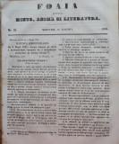 Foaia pentru minte , inima si literatura , nr. 33 , 1853 , Brasov , Director Iacob Muresanu, Alta editura
