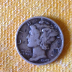 1 Dime Moneda Dolar SUA 1942, America de Nord