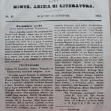 Foaia pentru minte , inima si literatura , nr. 43 , 1853 , Brasov , Director Iacob Muresanu, Alta editura