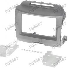 Rama adaptoare Kia Sportage III (SL), 2 DIN, neagra - 000575