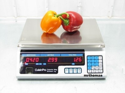 CANTAR ELECTRONIC PIATA MAGAZIN 40 kg