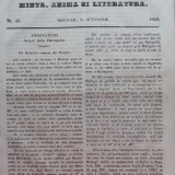 Foaia pentru minte , inima si literatura , nr. 42 , 1853 , Brasov , Director Iacob Muresanu, Alta editura