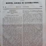Foaia pentru minte , inima si literatura , nr. 40 , 1853 , Brasov , Director Iacob Muresanu, Alta editura