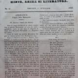 Foaia pentru minte , inima si literatura , nr. 41 , 1853 , Brasov , Director Iacob Muresanu, Alta editura