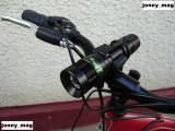 Far Bicicleta cu Green Dimmer Zoom si Led CREE XPE-Q5 + Suport + Stop Leduri NOU, Faruri si semnalizatoare