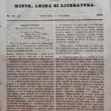 Foaia pentru minte , inima si literatura , nr. 46 - 47 , 1853 , Brasov , Director Iacob Muresanu, Alta editura
