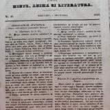 Foaia pentru minte , inima si literatura , nr. 48 , 1853 , Brasov , Director Iacob Muresanu, Alta editura