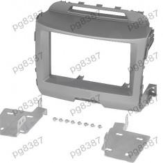 Rama adaptoare Kia Sportage III (SL), 2 DIN, gri - 000576