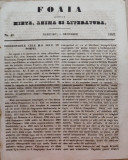 Foaia pentru minte , inima si literatura , nr. 49 , 1853 , Brasov , Director Iacob Muresanu