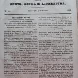Foaia pentru minte , inima si literatura , nr. 44 , 1853 , Brasov , Director Iacob Muresanu, Alta editura
