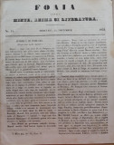 Foaia pentru minte , inima si literatura , nr. 51 , 1853 , Brasov , Director Iacob Muresanu