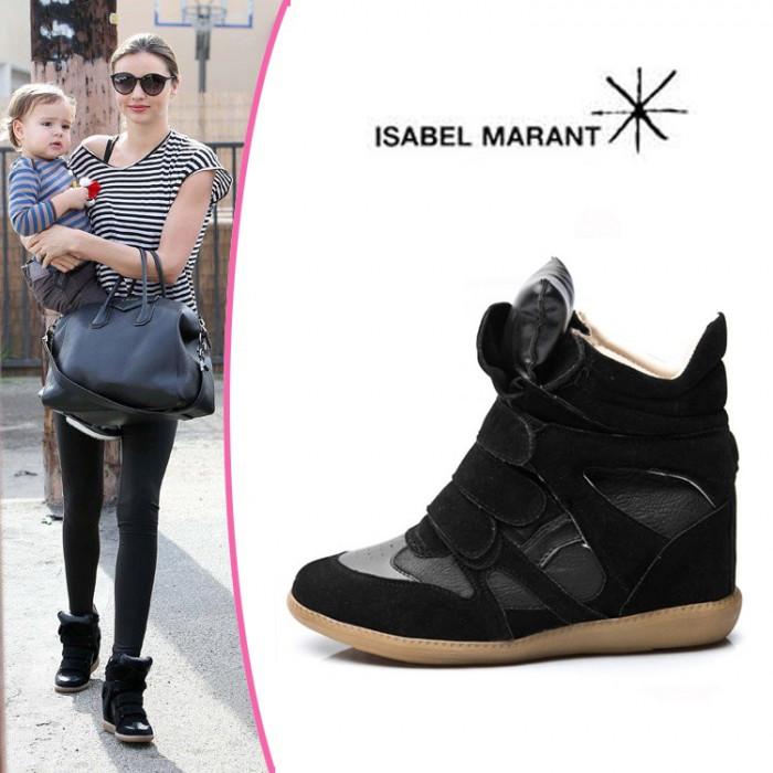 Ghete/Sneakers ISABEL MARANT de dama/femei Negru - POZE REALE foto mare