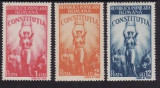 Romania 1948 - Constitutia,cat.nr.1022-4 serie completa,neuzata(z), Nestampilat