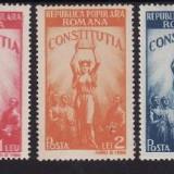 Romania 1948 - Constitutia, cat.nr.1022-4 serie completa, neuzata(z) - Timbre Romania, Nestampilat