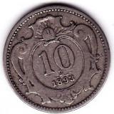 1) Austria Ungaria Transilvania 10 Heller 1893 VF