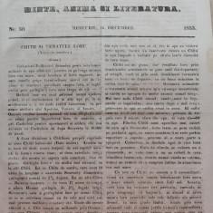 Foaia pentru minte , inima si literatura , nr. 50 , 1853 , Brasov , Director Iacob Muresanu