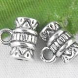 Set verigi argintii tip butoias 10 buc. - element de legatura pentru confectionat bijuterii