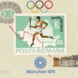 COLITA ROMANIA PREOLIMPIADA MUNCHEN 1972 - Timbre Romania