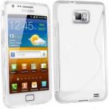 Husa Samsung Galaxy S2 i9100 i9101 i9105 s2 plus + folie + stylus - Husa Telefon Samsung, Transparent, Gel TPU