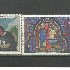 FRANTA 1966 - PICTURA DAUMIER, TAPISERIE, VITRALIU, serie stampilata, R270 - Timbre straine