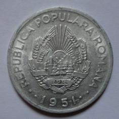 20 lei 1951 luciu de batere + - Moneda Romania