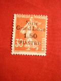 Timbru 1,5Cpe30C rosu Syria-Grand Liban Ocup.Franceza 1923