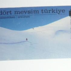 Cartela - Arta - Zapada - Peisaj de iarna - Turcia - 2+1 gratis toate licitatiile - CHA127 - Cartela telefonica straina