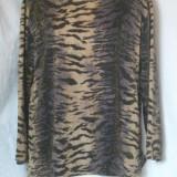 BLUZA CU LUREX ANIMAL PRINT, XL - Bluza dama, Culoare: Multicolor, Maneca lunga, Universala, Multicolor