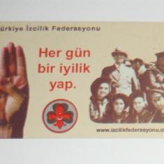 Cartela - Arta - Istorie - Federatia Cercetasilor Turci - Turcia - 2+1 gratis toate licitatiile - CHA135 - Cartela telefonica straina