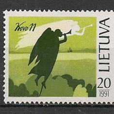 Lituania.1991 1 an Independenta SL.62 - Timbre straine