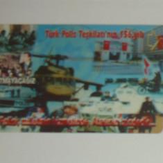 Cartela - Ziua Politiei - Turcia - 2+1 gratis toate licitatiile - CHA137 - Cartela telefonica straina