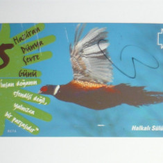Cartela - Fauna - Pasari - Turcia - 2+1 gratis toate licitatiile - CHA123 - Cartela telefonica straina