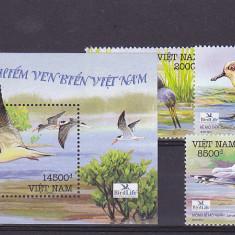Fauna, pasari de apa, dantelata, Vietnam. - Timbre straine, Asia