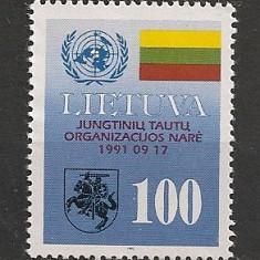 Lituania.1992 Aderarea la ONU SL.70 - Timbre straine