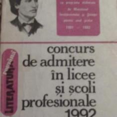 Maria Boatca, A. Macarie si G. Sovu - Concurs de admitere in licee si scoli profesionale - Teste admitere liceu