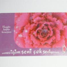 Cartela - Arta - Floare - Turcia - 2+1 gratis toate licitatiile - CHA121 - Cartela telefonica straina
