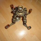 Candelabru Bronz Masiv, Lampi