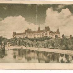 Carte postala(marca fixa)- IASI-Palatul culturii - Carte Postala Moldova dupa 1918, Circulata, Printata