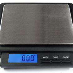 Cantar electronic de mare precizie cu platou inox pt bijuterii - XC 2000g x 0.1g