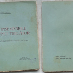 Octavian Goga , Insemnarile unui trecator ; Crampeie  , Arad , 1911 , ed. 1