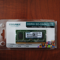 Memorie Kingmax SO-DIMM 1GB DDR3 1333MHz retail - Memorie RAM laptop