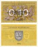 Lituania 0.10 talonas 1991 UNC, 2 bucati, 3 roni bucata