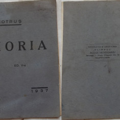 Aron Cotrus , Horia ; Placheta de versuri , 1937
