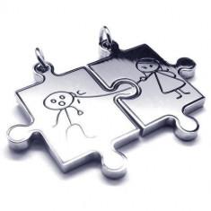 Pandantive inox indragostiti puzzle, lantisoare cupluri