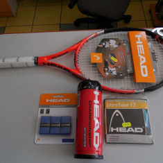SET PENTRU TENIS DE CAMP HEAD COMPUS DIN RACHETA+RACORDAJ+OVERGRIP+MINGI - Grip tenis