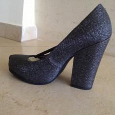 Pantofi Calvin Klein, masura 37 - Pantof dama Calvin Klein, Culoare: Gri, Gri